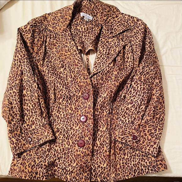 Joan Rivers Leopard Blazer